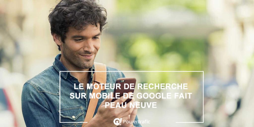 Un nouveau design pour la version mobile du moteur de recherche Google