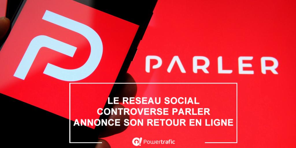 Le réseau social Parler a été banni de Twitter, Facebook et Amazon mais est de nouveau en ligne