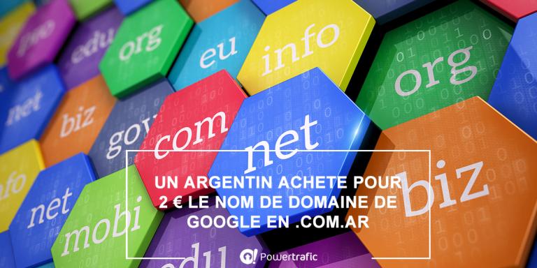 Insolite : le nom de domaine argentin google.com.ar s'est retrouvé à la vente