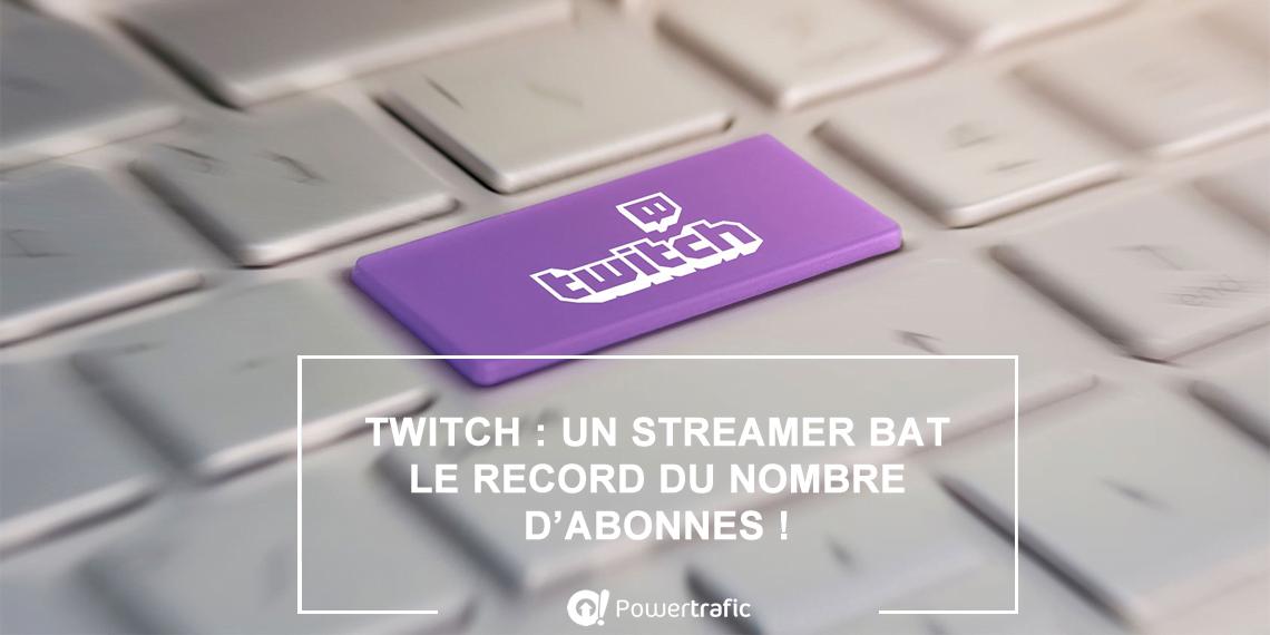 Twitch : un streamer bat le record d'abonnements après un mois de live